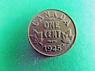Canada 1925 One Cent Key Date Coin