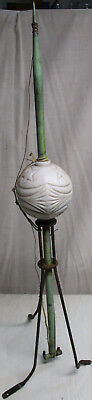 Vintage OLD Copper and Cast Iron Lightning Rod, Original Moon and Stars Ball #2