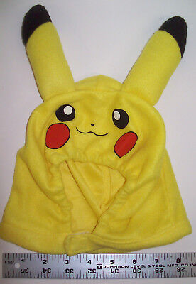 Pokemon Pikachu Hood Hat Cap Earmuff Baby Toddler Pet Halloween Winter Party