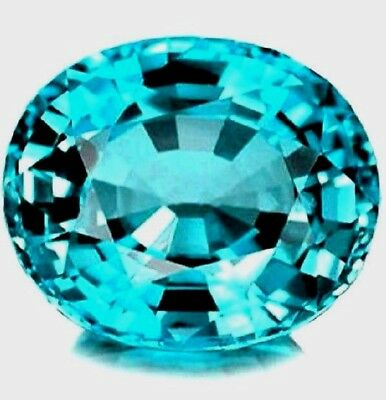 Discounted! *certified* Flawless 2.55 Ct Blue Zircon Oval!