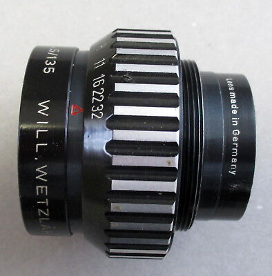 Will Wetzlar135mm Enlarger Lens Wilon f/4.5 Large Format Germany in Case