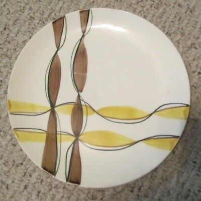 "Rare Blue Ridge Southern Pottery 9 1/2"" Dinner Plate  ribbon pattern"