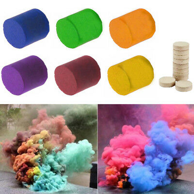 Smoke Cake Colorful Smoke Effect Show Round Bomb Stage Photography Aid Toy UK