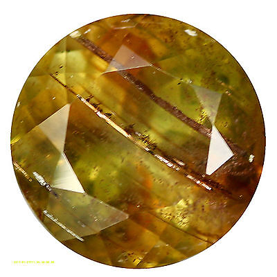 1.82Ct Resplendent Round cut 7 x 7 mm Natural Brazilian Andalusite