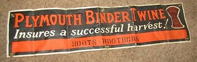 VINTAGE PLYMOUTH BINDER TWINE Canvas Advertising Canvas Sign