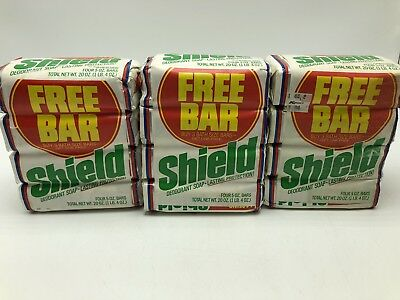 Vintage Lever Bros Shield Deodorant Soap Bath Bar 5 oz Lot 12 NOS Prop Display