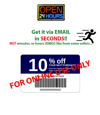 Lowes 10% Off Discount 1COUPON Fast 1-Minute Delivery Online In-Store Printable
