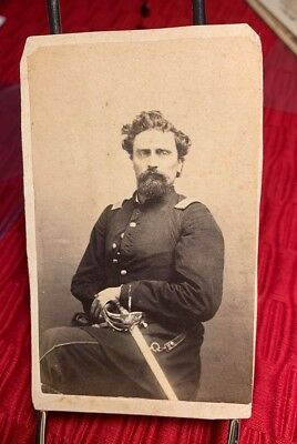 CDV of Civil War Officer, Great Clarity and Contrast