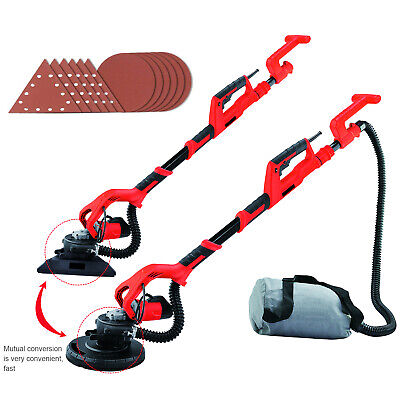 Upgraded Telescopic Drywall Sander Wall 1000W 2in1 Dust Free Plaster Sanding