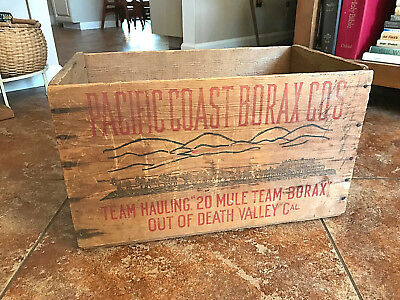 Vintage 20 MULE TEAM BORAX Wooden Crate/Pacific Coast Borax Co./NO RESERVE