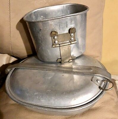 Original WW1 Mess Kit With 1917 Knife and Canteen Cup