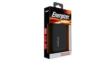 Energizer 10000 mAh Black Power Bank! UE10005! Portable Charger!