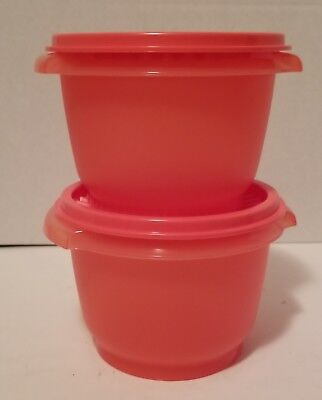 New Tupperware 2 Set Servalier Small Bowls Classic 2 1/2 Cup Guava