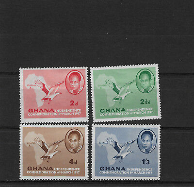 Ghana 1957 Independence Palm-nut Vulture birds mint set map Africa SG 166-9