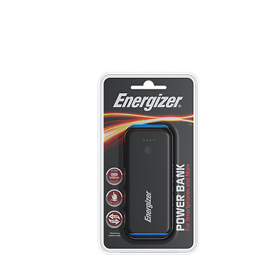 Energizer 5000 mAh Black Power Bank! UE5007! Portable Charger! Travel Size!