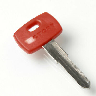1x Motorcycle Blank Key Uncut Blade Embryo RED For Victory Vision Tour