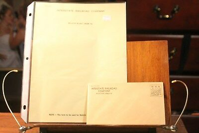 2 each 1950's Interstate Railroad Company Envelope & Bulletin Board Order Form g