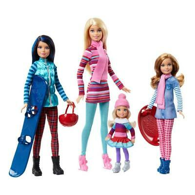 Barbie Sisters Winter Getaway Fashion Dolls Pink Passport Vacation Mattel FDR56
