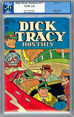 Dick Tracy Monthly #17 Pgx 5.0 <> Classic Golden Age Dick Tracy <> 1949
