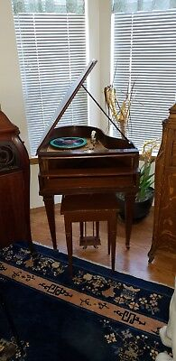 Fern O Grand 1920s Wind Up Phonograph Rare Grand Piano Style