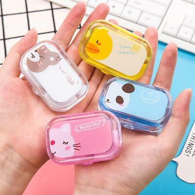 Cute Cartoon Mini Travel Contact Lens Case Box Container Holder Eye Care Kit