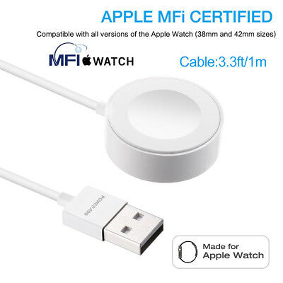 Magnetic Charger Charging Cable For Apple Watch Edition iWatch 38mm & 42mm(1m)