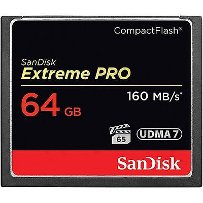 SanDisk CF 64GB  Extreme Pro Compact Flash 160MB/ s Compact Flash Card sm UK