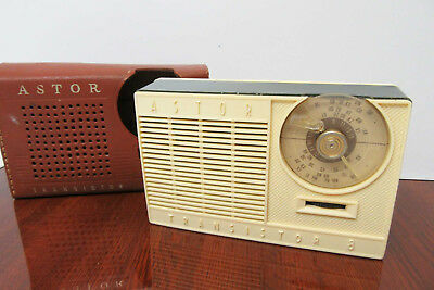 ASTOR Vintage Transitor Radio with Case