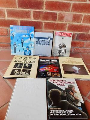 8 x Vintage Hard Cover Photography Books Big Lot Photo Photo's Book
