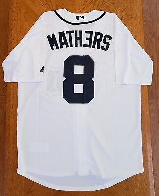 NWT Men's Marshall Mathers Eminem Detroit Tigers Baseball Jersey (S,M,L,XL)