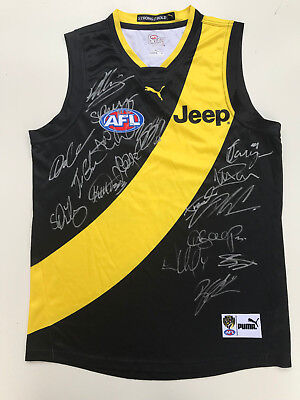 RICHMOND 2017 PREMIERS SIGNED LARGE AUTOGRAPHS For Framing JUMPER GUERNSEY Dusty
