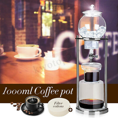 Dutch Coffee Cold Drip Water Drip Brew Coffee Maker Serve For 10cups 1000ml