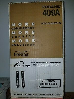 R409A Refrigerant, 30Lb, Local Pick Up Only, Brand new, sealed cap in box