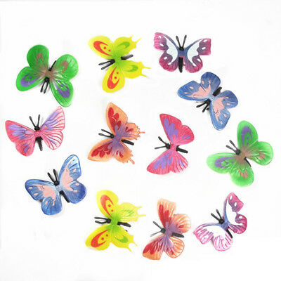 12* Vivid PVC Nature Animal Model Fish Butterfly Figures Child Toy Xmas Gifts
