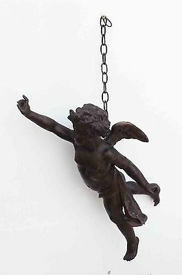 Angel hanging ceiling lamp rare 18th century item
