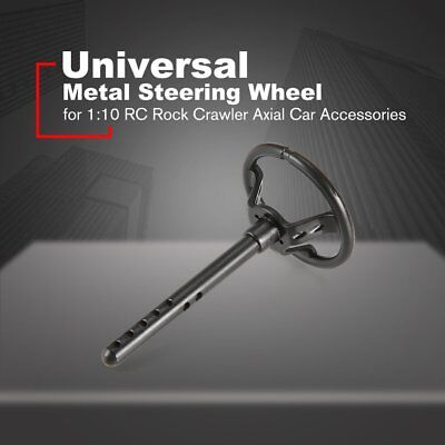 Universal Metal Steering Wheel for 1:10 RC Rock Crawler Axial Car Accessories MY