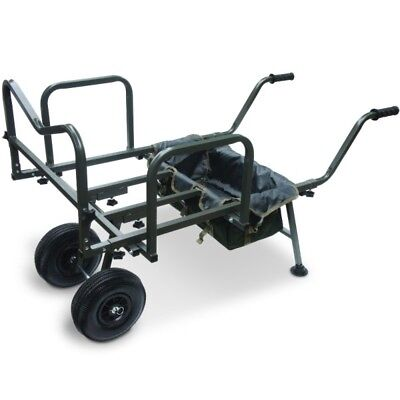 Carp Fishing Tackle Barrow Trolley & Free Large Barrow Bag Ngt Dynamic