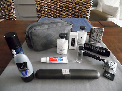 EMIRATES Business Class BVLGARI Amenity Kit Washbag Trousse Neceser Kulturbeutel