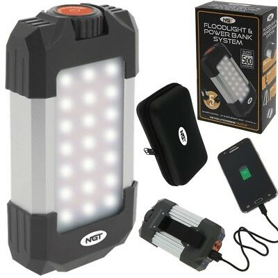NGT Floodlight & Powerbank Carp Sea Fishing Camping Bivvy Light Re-charge Phone