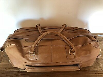 Vintage Leather Pelle Baguette Bag Travel Made In Italy