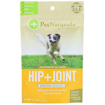 Pet Naturals of Vermont, Hip + Joint, For Dogs , 60 Chews, 3.17 oz (90 g)