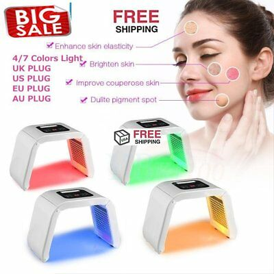 Photon Light 4/7 Color LED Photodynamic PDT Mask Facial Care Therapy Machine CA