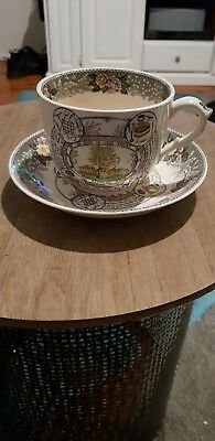 Adams Stafforfshire Farmers Arms Breakfast Large Cup & Saucer
