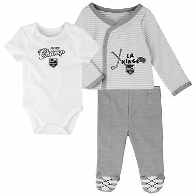 Nhl Toronto Maple Leafs Bodysuit Romper Jumpsuit Outfits 3 Piece Set Newborn Baby & Toddler Clothing