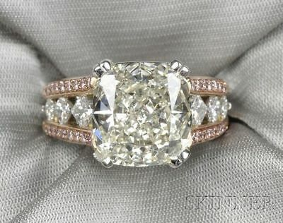 White Pink Sapphire Silver Fashion Women Wedding Proposal Ring Jewelry Size 6-10