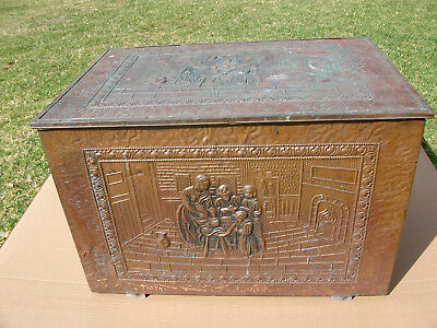 vintage box copper man cave antique retro may be brass