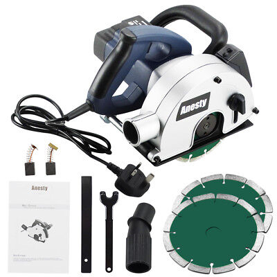 Electric 1700W Wall Chaser Slotter with  2 Diamond Discs 150mm - Laser - Vacuum