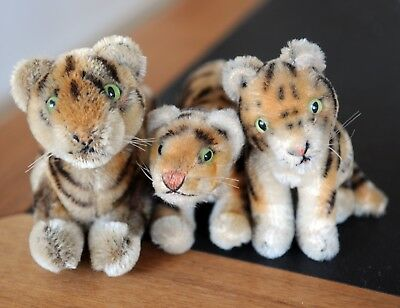 Steiff Tiger lot vintage toy 3 different tigers