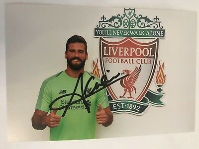 2018/19 LIVERPOOL Alisson Becker autographed 6X4 photo signed 6