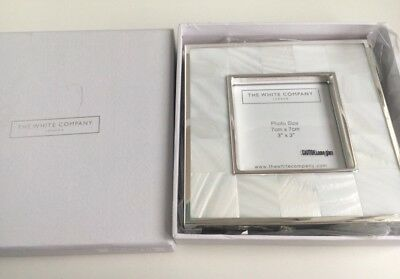 NEW THE WHITE COMPANY Pearl PHOTO FRAME